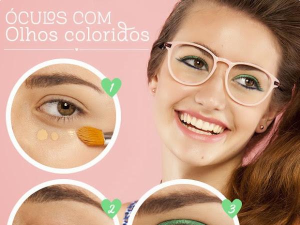 Maquilhagem para quem usa óculos