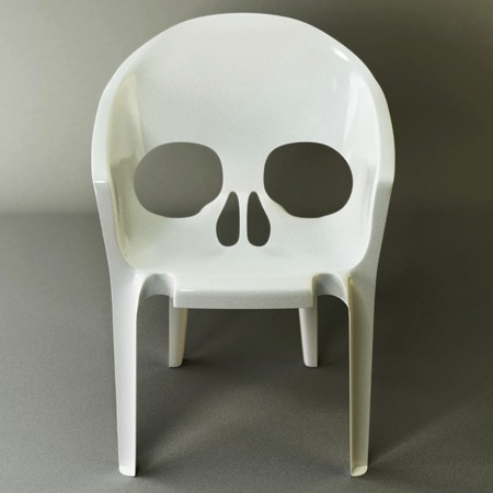 Toys work skull chair for Cool furniture tumblr