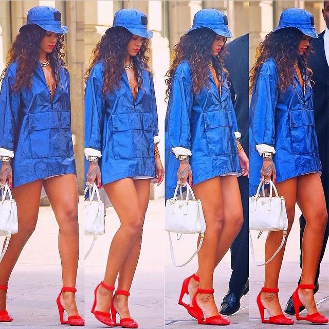 Rihanna Looks Amazing in Blue