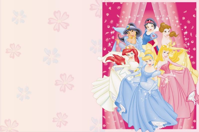 Tarjetas de Cumpleaños de las Princesas Disney. | Marcos Gratis ...