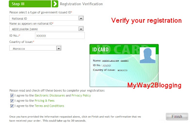 Registration Verification for Payoneer sign up
