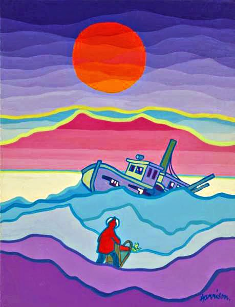 ted harrison the painter who illustrated sam mcgee and dan mcgrew