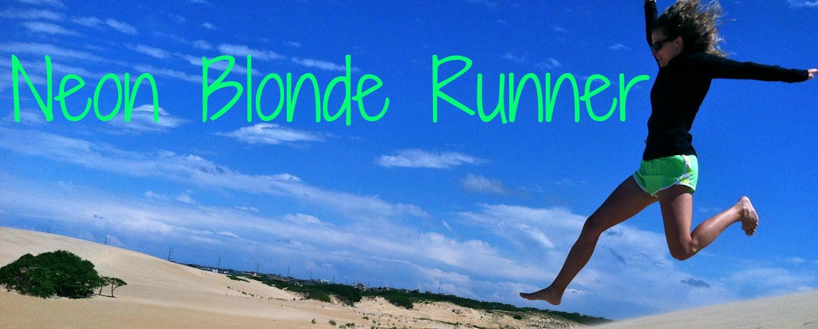 Neon Blonde Runner