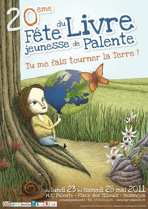 création d'une affiche remportée pour le concours du festival du livre jeunesse de palente 2011