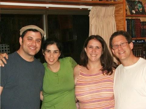 Jimmy Kimmel, Sarah Silverman, Rabbi Susan Silverman, Yossi Abramowitz