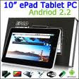10 Inch Zenithink Tablet PC/ Android 2.2 OS/1GHz CPU/ 512MB RAM/ 4GB NandFlash