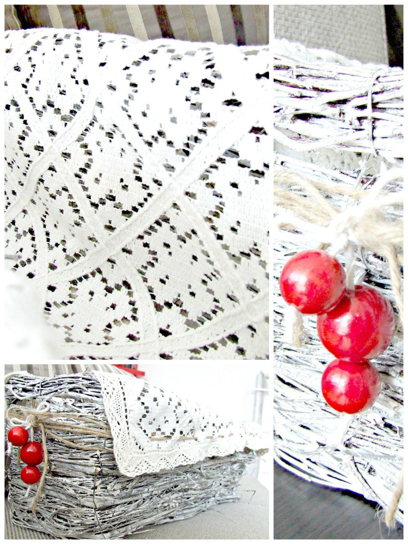 rustykalna dekoracja - piekny wiklinowy koszyk DIY Eco Manufaktura