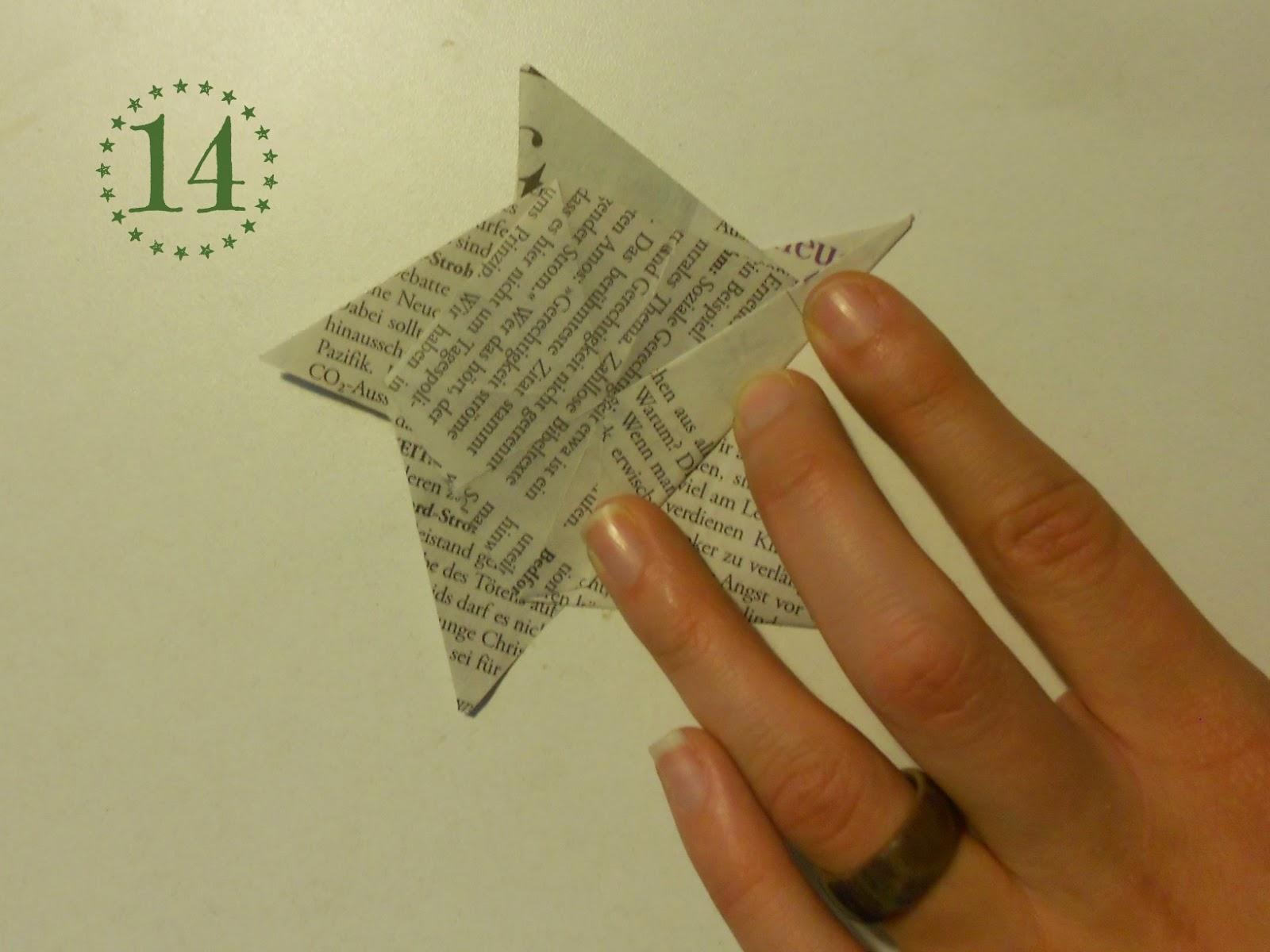 Papierstern - Schritt 14: Zacken halbieren
