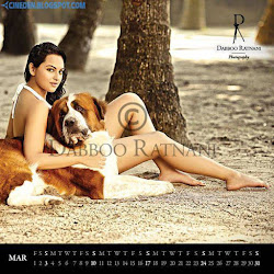 Sonakshi Sinha on Dabboo Ratnani 2013 Calendar Hot Celebrities Photoshoot Stills