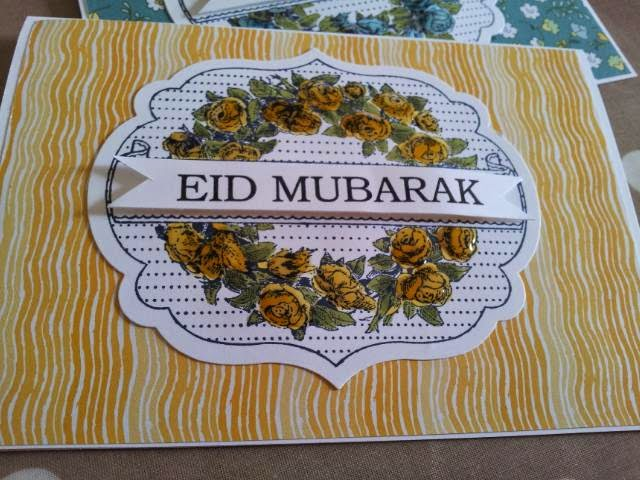 Apothecary Art card to make Eid Mubarak Card Jemini Crafts
