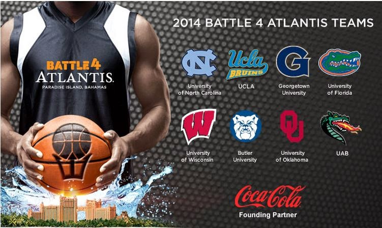 #22 UCLA vs #5 North Carolina Today Nov 27 4 PM PT AXS TV (huh?!?)