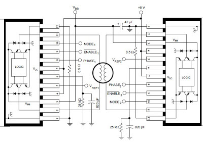 Stepper Motor Controller Using by A3952S   Circuit Wiring on bldc controller schematic, servo controller schematic, electric motor schematic, brushed motor controller schematic, motor speed controller schematic, pwm motor controller schematic, permanent magnet motor controller schematic, solid state relay schematic, stepper motor control, bipolar stepper motor schematic, brushless motor controller schematic, torque motor controller schematic, dc motor controller schematic, linear motor controller schematic, treadmill motor controller schematic, stepper motor kits, stepper motor icon, unipolar stepper motor schematic, motor control circuit schematic, servo motor schematic,