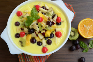 How to make fruit custard recipe