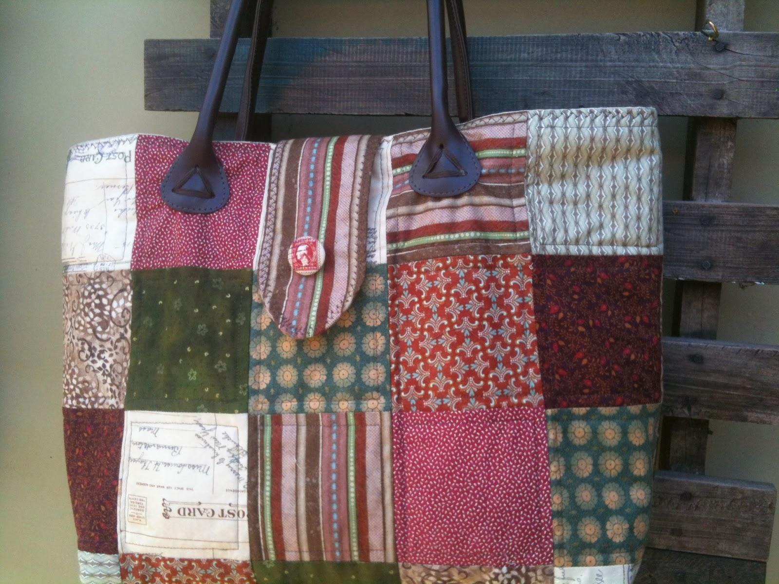Bolsa De Tecido Com Alça De Couro : Flor de baunilha patchwork quilt fevereiro