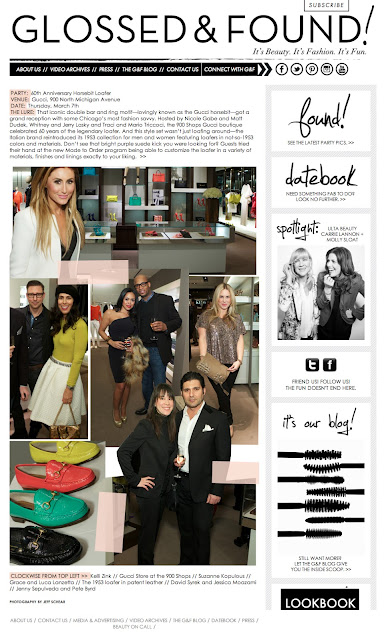 Fashion Junkie Jessica Moazami featured on Glossed & Found at Gucci anniversary party