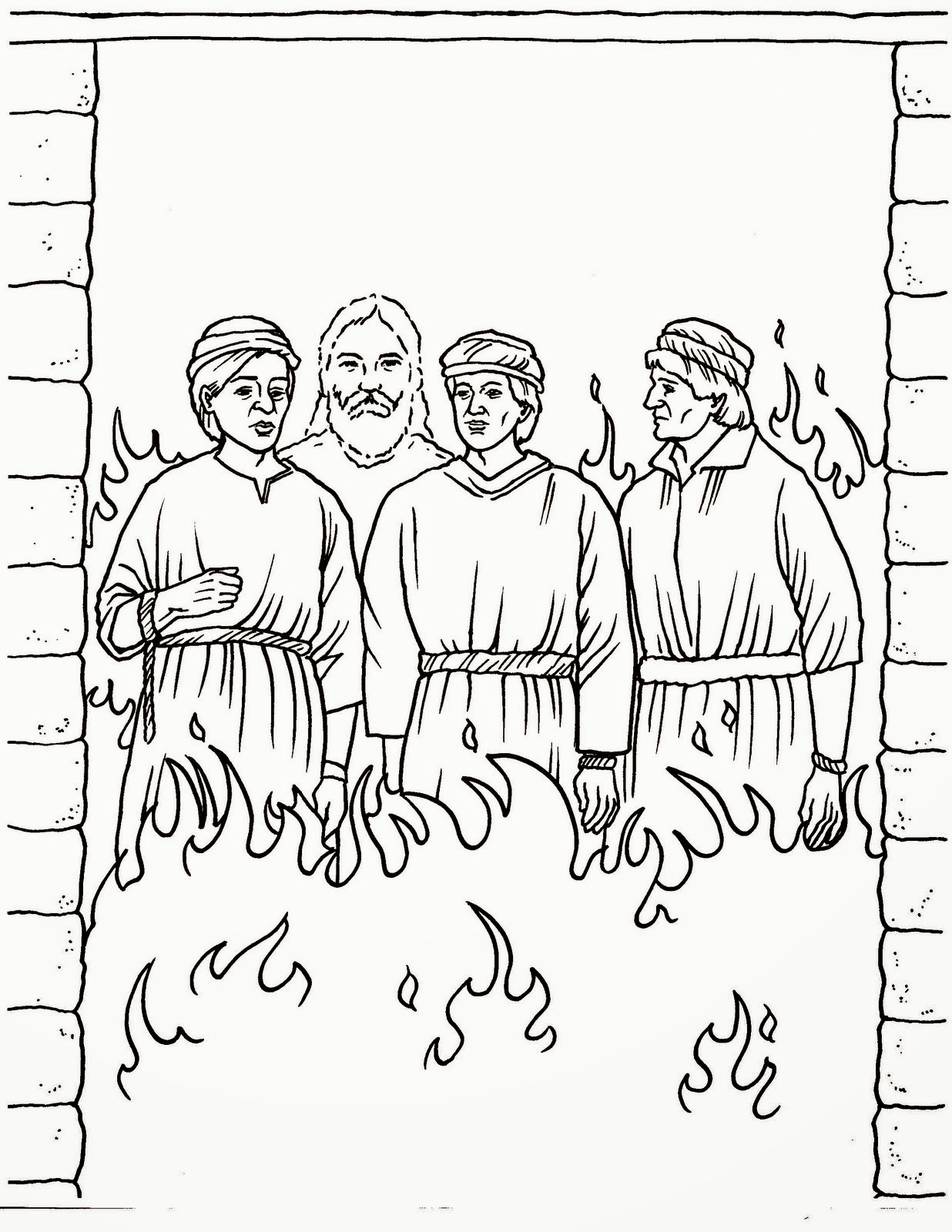 the fiery furnace coloring pages - photo#15