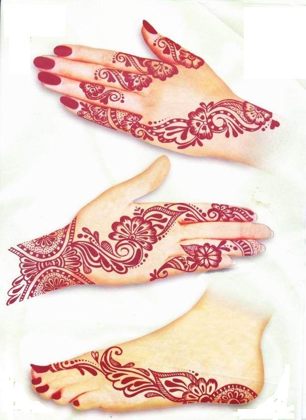 Red Mehndi Tattoo : Latest mehndi designs awesome arabic