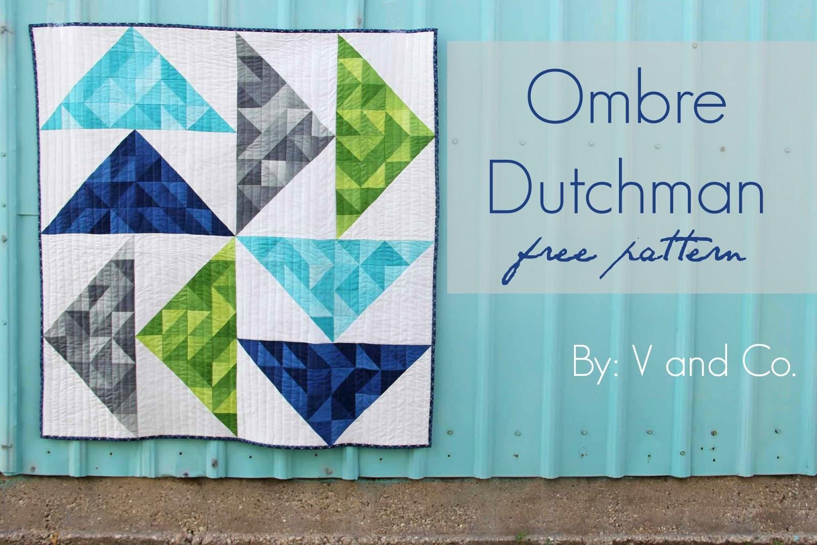 V and Co.: V and Co: how to make: ombre dutchman free quilt pattern : flying dutchman quilt pattern - Adamdwight.com