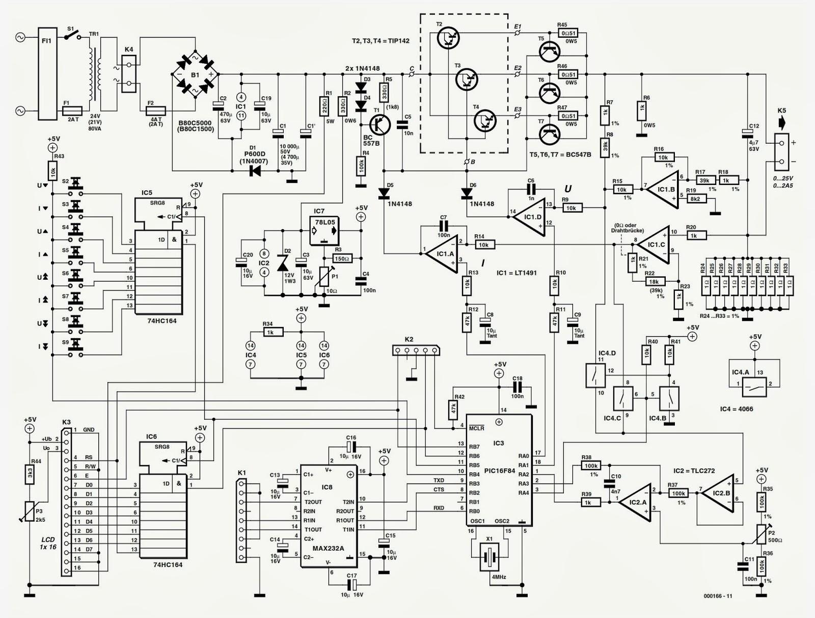 nte electronics circuit  digital power supply unit