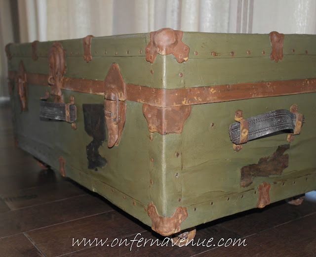 Fern Avenue Blog Navy Trunk using Modern Masters Rust Activator