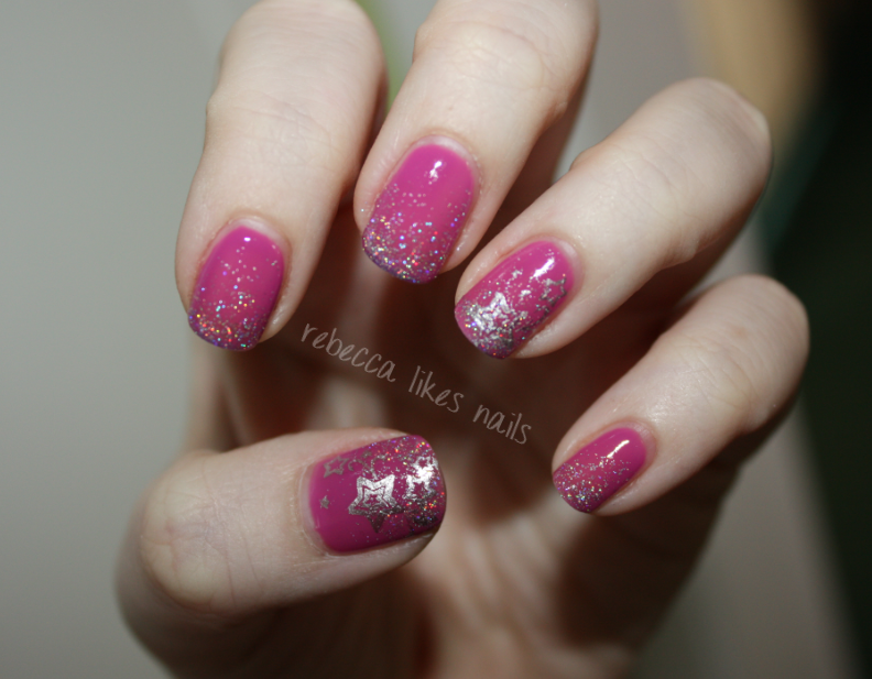 rebecca likes nails: my (non-winning) entry for Gel II\'s Reaction ...