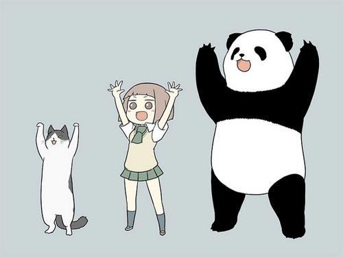 Картинки арт аниме арбуз ситуация панда m на рабочий