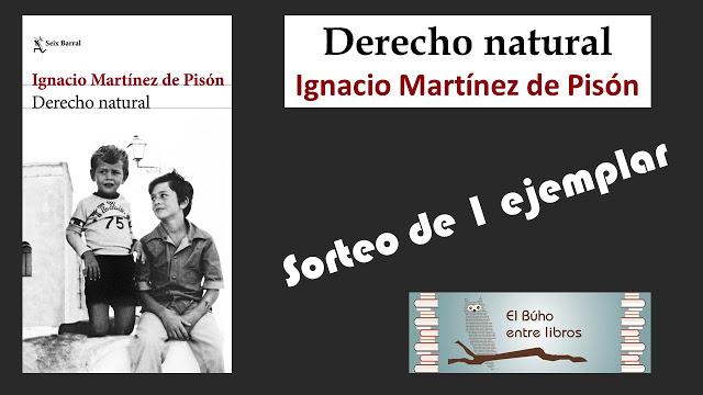 """SORTEO DE 1 EJEMPLAR DE """"DERECHO NATURAL"""""""