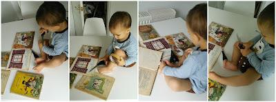 Dziecko pomaga naprawiać książki