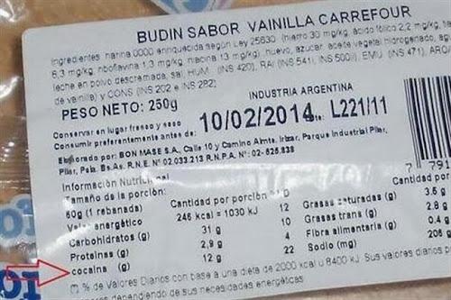 Suposta cocaína em pudim de mercado na Argentina gera polêmica na internet