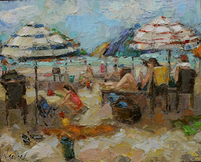 beach painting by Kathryn Morris Trotter, www.kathryntrotterart.com,