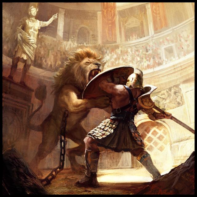 Gladiador 640x640_3476_Gladiator_VS_Lion_2d_realism_lion_gladiator_rome_romans_antiquity_picture_image_digital_art