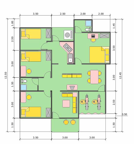 denah rumah sederhana minimalis denah rumah sederhana