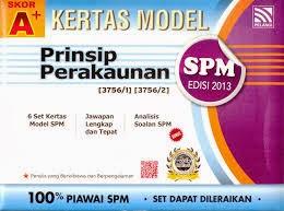 Soalan Percubaan Prinsip Perakaunan SPM 2013