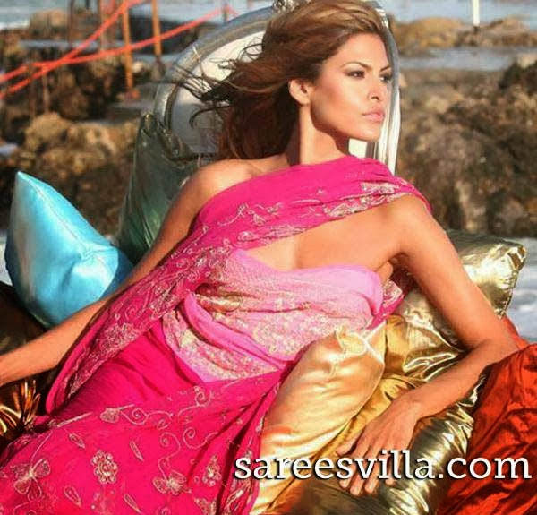 Eva Mendes in saree