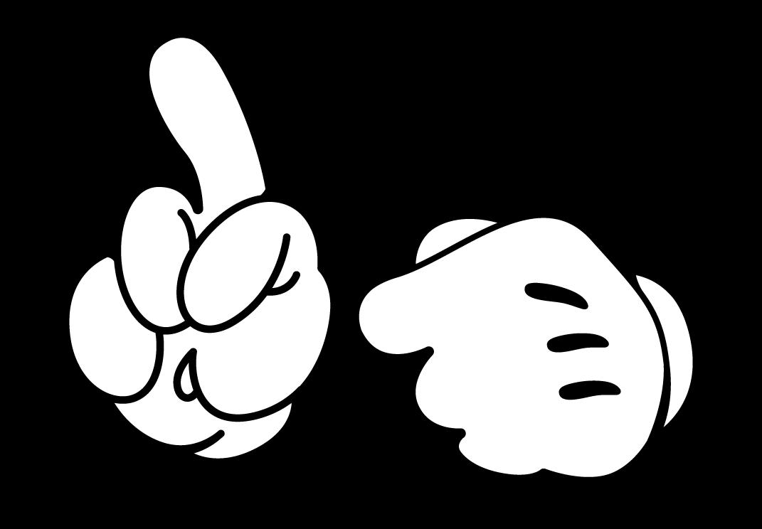 manos de mickey mouse