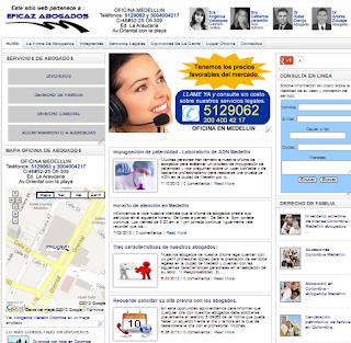 Nueva presentación web de abogados.