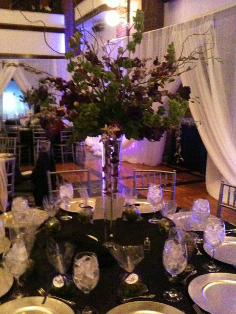 Glass Wedding Centerpieces