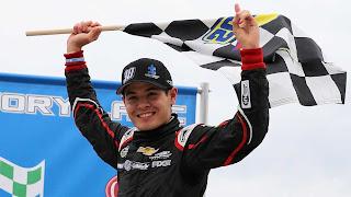 Larson Wins Truck Series Race