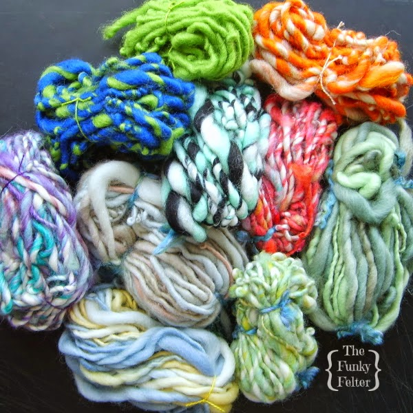 hand spun yarn by the funky felter