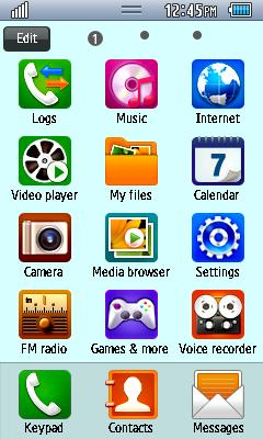 Samsung GT-S5750E Default Theme Free Download Menu