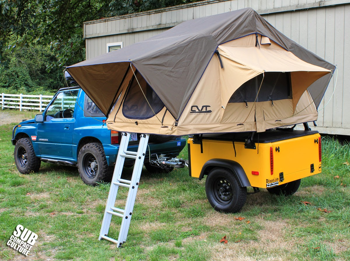 Our Suzuki with a CVT Mt. Bailey Roof Top Tent & ZUKIWORLD Reviews: Cascadia Vehicle Tents Mt. Bailey Roof Top Tent ...