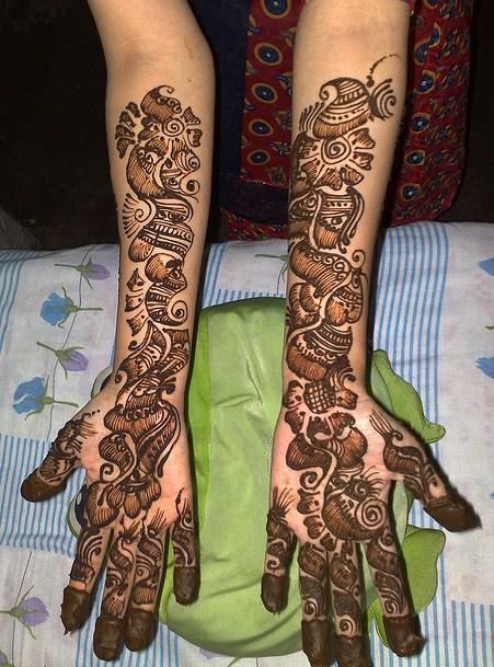 Modern Bridal Mehndi Designs : Latest fashion bollywood fashoin style