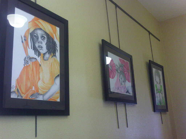 Part of the True Colors Collection hanging at Ute Pass Library in Cascade, CO True Colors Collection at Ute Pass Library by Noami Foster