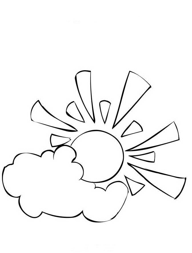 Раскраска солнце - 87444