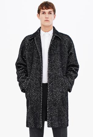 abrigo oversize de hombre Zara
