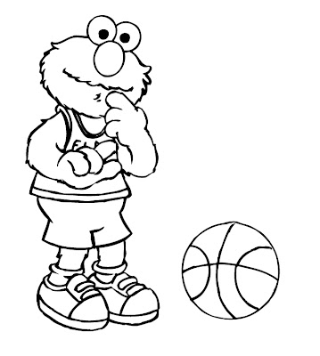 Elmo Printable Coloring Pages