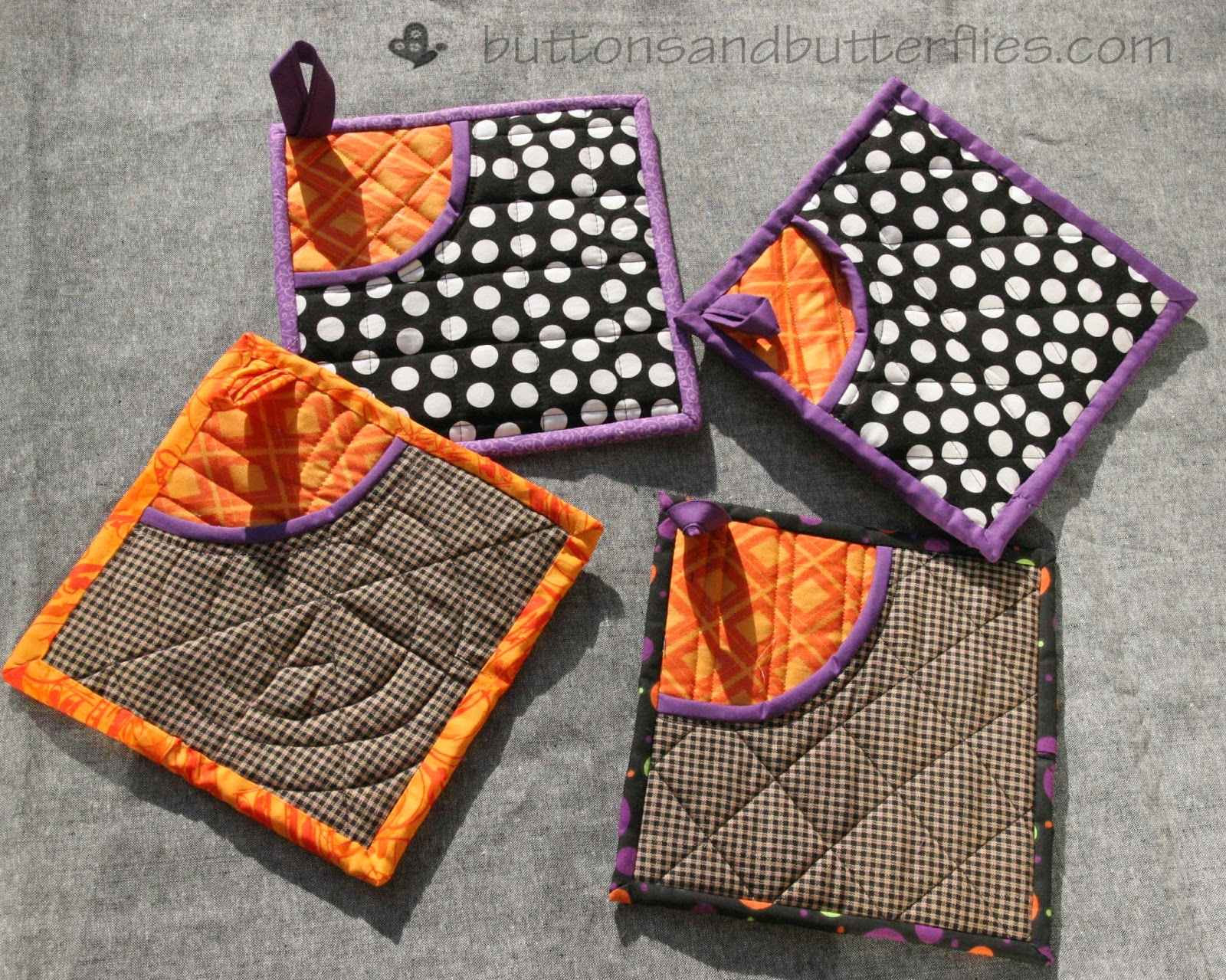 Buttons and Butterflies: Potholders Galore : quilted potholders patterns - Adamdwight.com