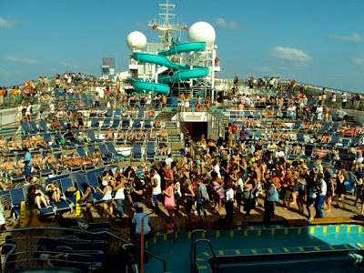 Crowded Cruiseship Deck