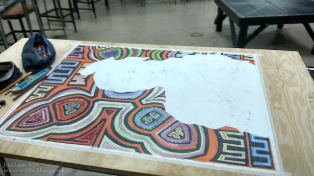 Pintura en proceso