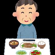 低カロリーな食事のイラスト(生活習慣病)